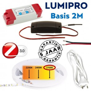 LUMIPRO basis 2M 4,8 watt 2700K warm wit + ZigBee dimmer