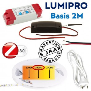 LUMIPRO basis 2M 4,8 watt 2400K extra warm wit + ZigBee dimmer