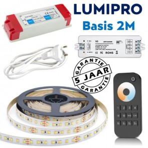 LUMIPRO basis 2M 9,6 watt Tunable White 2400K-5500K + zone dimmer